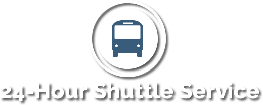 24 Hour shuttle service