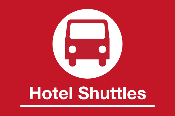 LAX Hotel Shuttles Sign